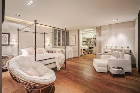 Casa CSF: Recámaras de estilo clásico por Lopez Duplan Arquitectos