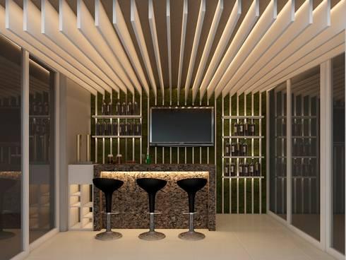 Proyecto JC:  de estilo  por Rodríguez + Zermeño Arquitectura y Construcción S.A. de C.V.