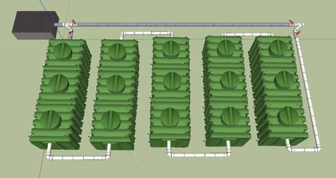 Microplantas Instaladas en Serie: Baños de estilo  por Innovaciones  Ecologicas