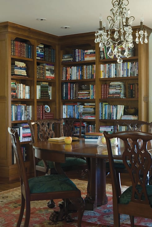 Renovation Remodel:  Study/office by Andrea Schumacher Interiors