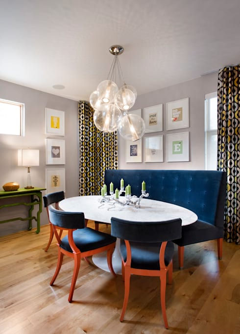 LoHi Private Residence:  Dining room by Andrea Schumacher Interiors