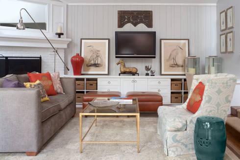 Denver Country Club Home: classic Media room by Andrea Schumacher Interiors