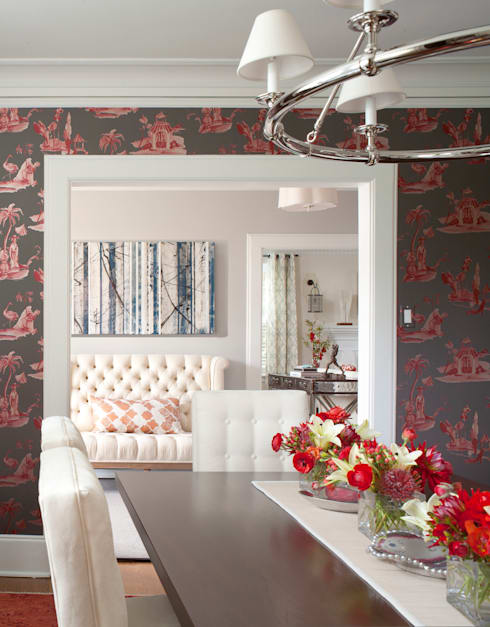 Denver Country Club Home:  Dining room by Andrea Schumacher Interiors