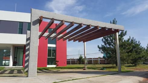 CASA PZ ARQUIMIA ARQUITECTOS: Terrazas de estilo  por Arquimia Arquitectos