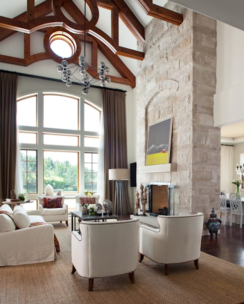 Buell Mansion Remix:  Living room by Andrea Schumacher Interiors