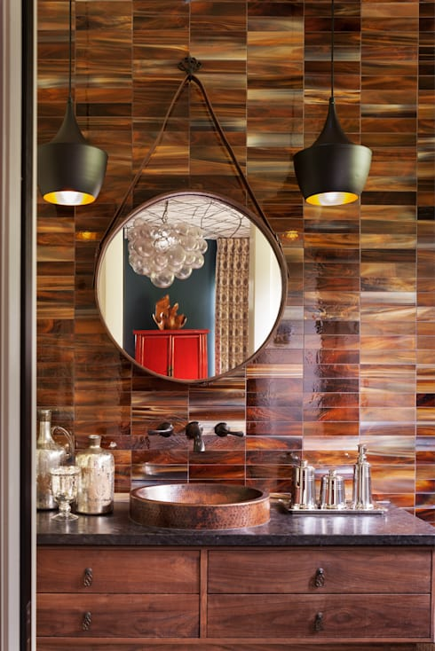 Vail Valley Retreat: eclectic Bathroom by Andrea Schumacher Interiors
