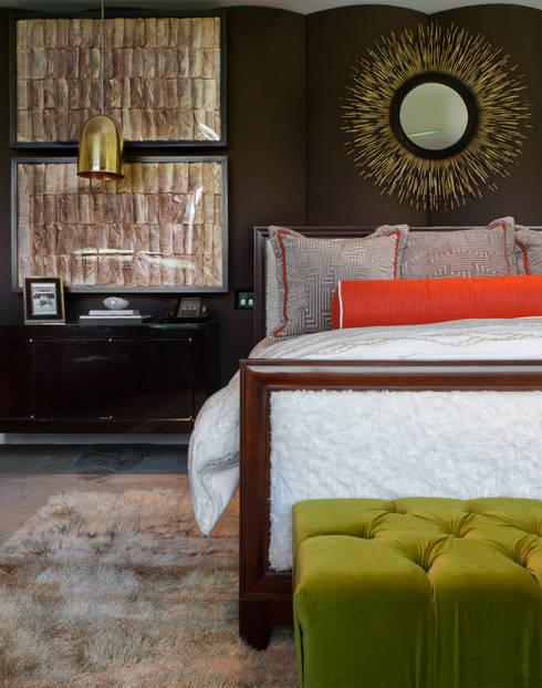 Vail Valley Retreat: eclectic Bedroom by Andrea Schumacher Interiors