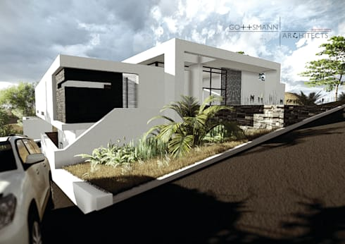 House Louw: modern Houses by Gottsmann Architects