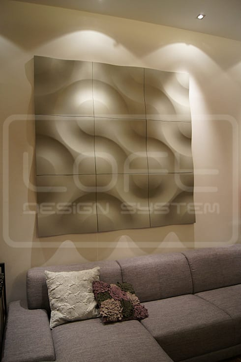 Modell 01 wandpaneele aus gips di loft design system for Gips decor images