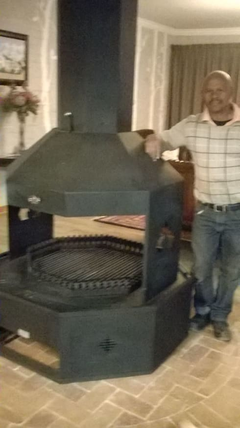 Open Free standing fireplace:   by A Fisher Fireplace and Gas Installations