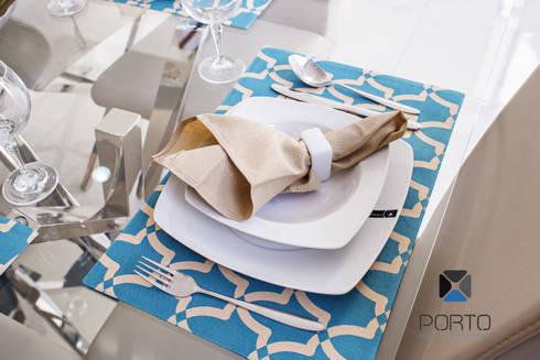 PROYECTO NN23: Comedores de estilo moderno por PORTO Arquitectura + Diseño de Interiores
