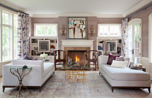 Cherry Creek Traditional with a Twist: eclectic Living room by Andrea Schumacher Interiors