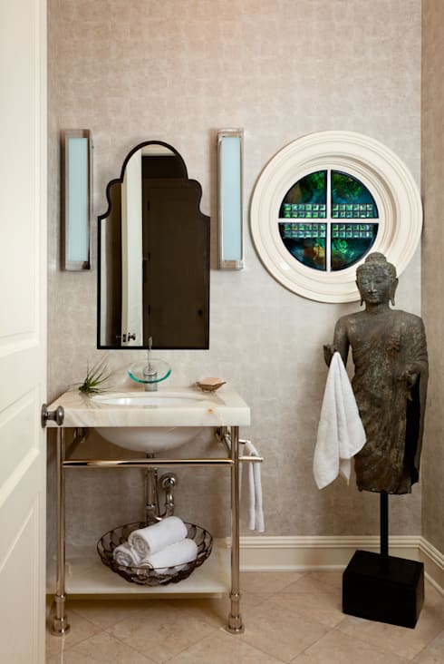 Cherry Creek Traditional with a Twist: eclectic Bathroom by Andrea Schumacher Interiors