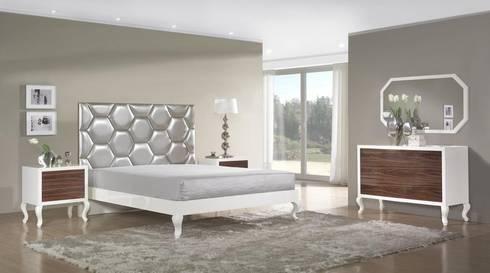 Mobiliário de quarto Bedroom furniture www.intense-mobiliario.com  SENNA: Quarto  por Intense mobiliário e interiores;