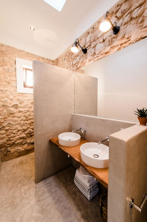 Ibiza Campo - Guesthouse:  Bathroom by Ibiza Interiors - Nederlandse Architect Ibiza
