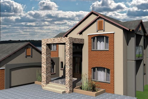 House Ngobeni:   by Conceptions Arch Designs
