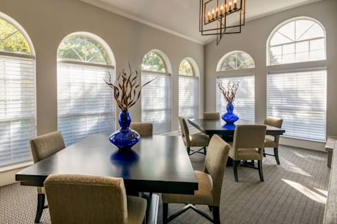 Waterton Residential Clubhouse:  Office spaces & stores  by J&L Interiors, LLC