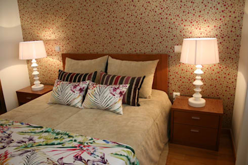 Decoração de Habitação Unifamiliar: Quarto  por Palma Interiores