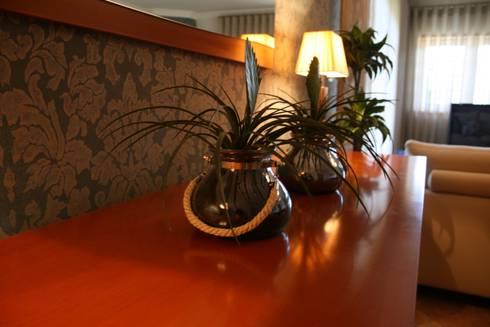 Decoração de Habitação Unifamiliar: Sala de jantar  por Palma Interiores