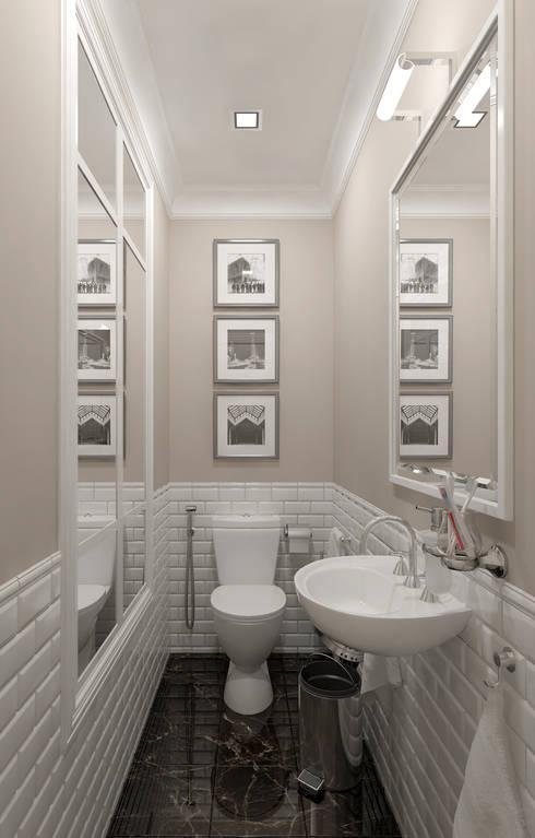 КВАРТИРА НА БРОННОЙ: Ванные комнаты в . Автор – D-SAV     ДИЗАЙН ИНТЕРЬЕРА И АРХИТЕКТУРА