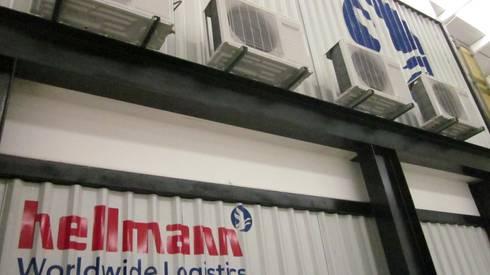 Hellman World Wide Logistics, Querétaro: Edificios de Oficinas de estilo  por KALI diseño.MX