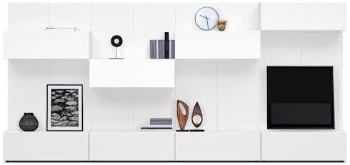 MODELO 2A  - MUEBLE DE PARED HOME THEATER: Salas / recibidores de estilo minimalista por 3 DECO