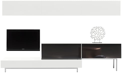 MODELO 2B  - MUEBLE MODULAR -  HOME THEATER: Salas / recibidores de estilo minimalista por 3 DECO