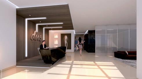Lobby:  de estilo  por HMA Desarrolladores De Proyectos