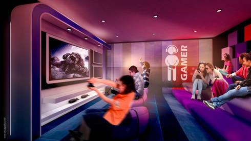 Sala TV / Video Juegos:  de estilo  por HMA Desarrolladores De Proyectos