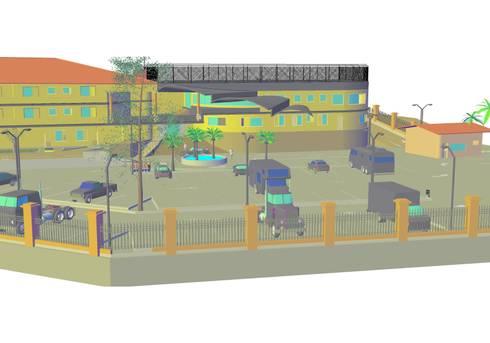 vista frontal: Casas de estilo  por YURAKU SUAREZ