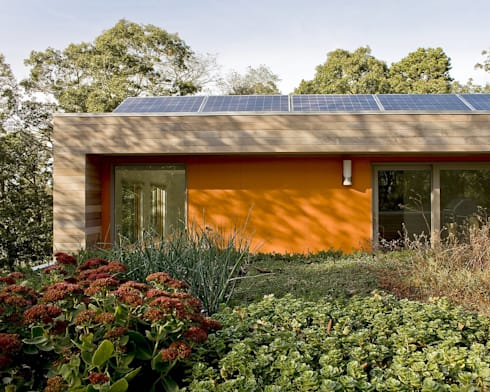 Green Roof & Solar Panels: modern Houses by ZeroEnergy Design