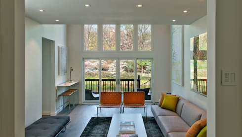 Georgetown Living Room Lighting  : modern Living room by Hinson Design Group