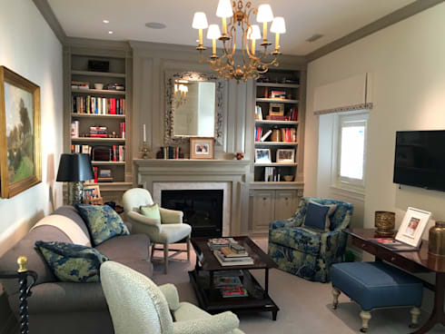 Kalorama Family Room Lighting : classic Living room by Hinson Design Group