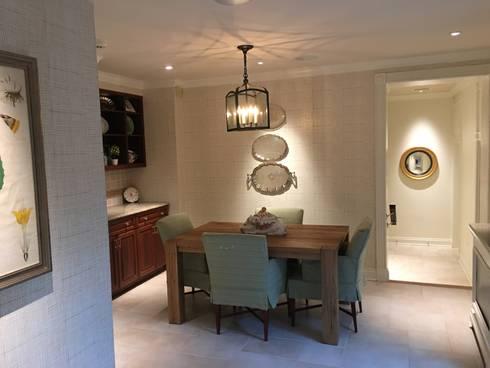 Kalorama Breakfast Room Lighting  : classic Kitchen by Hinson Design Group
