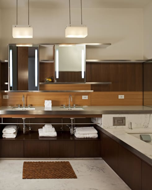 Soho Master Bathroom Lighting : modern Bathroom by Hinson Design Group