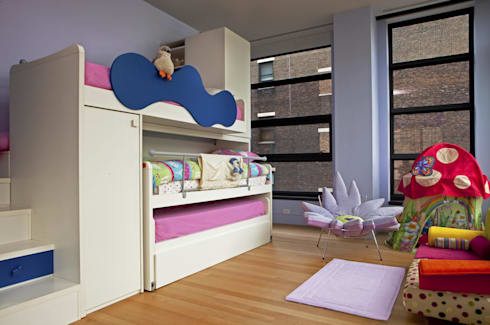 Soho Kids Bedroom Lighting : modern Bedroom by Hinson Design Group