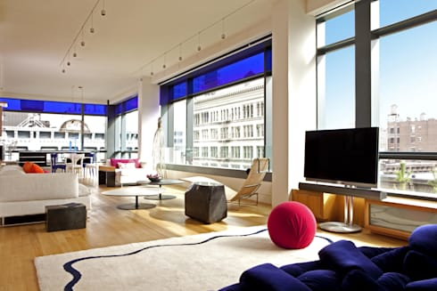 Soho Living Room Lighting : modern Living room by Hinson Design Group