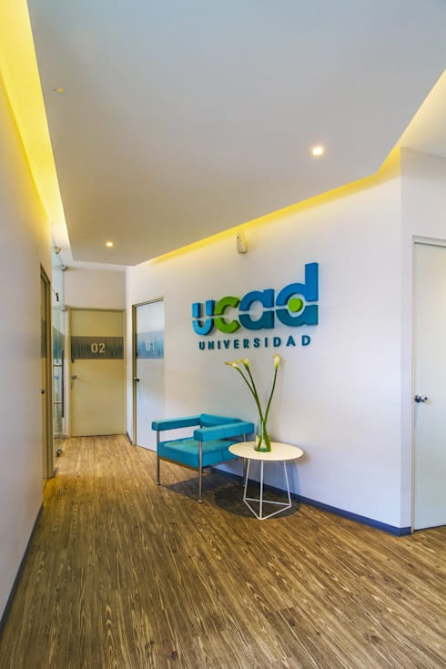 UCAD: Estudios y oficinas de estilo moderno por DIN Interiorismo