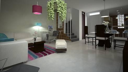 Proyecto Portal de las Palmas: Salas de estilo moderno por EcoDESING S.A.S DISEÑO DE ESPACIOS CON INGENIO