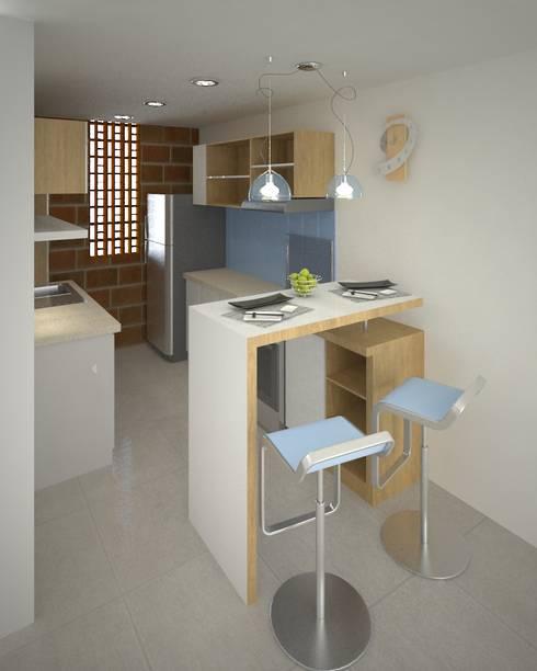 Proyecto Portal de las Palmas: Cocinas de estilo moderno por EcoDESING S.A.S DISEÑO DE ESPACIOS CON INGENIO
