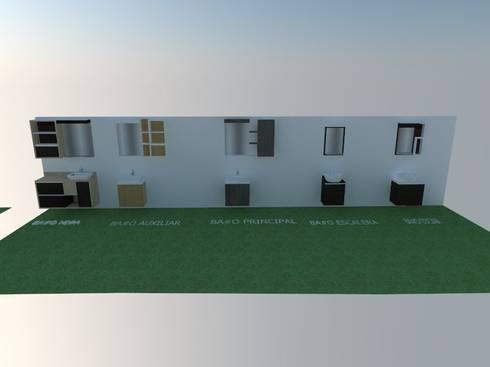 Diseño de Closets 3D:  de estilo  por Arte Madera Y Estilo
