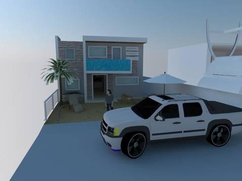 Fachadas 3D:  de estilo  por Arte Madera Y Estilo