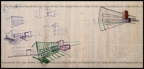 REMODELAÇÃO – Fábrica Habidecor: Espaços comerciais  por Diogo Almeida - Arquitecto