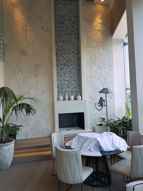 Restaurante aitana mexico df de marlux import homify for Microcemento en mexico