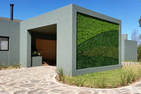 Muros verdes exteriores de ranka follaje sint tico homify - Decoracion muros exteriores ...