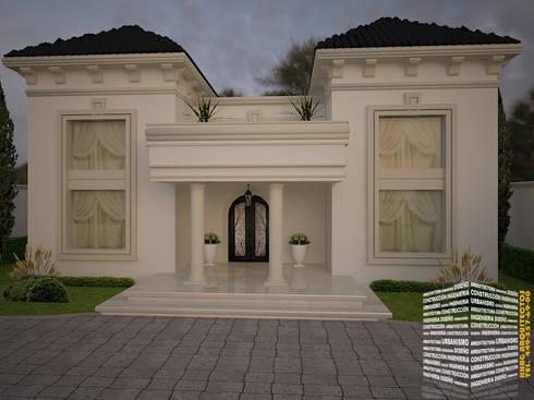 CASA CLASICA: Casas de estilo clásico por HHRG ARQUITECTOS