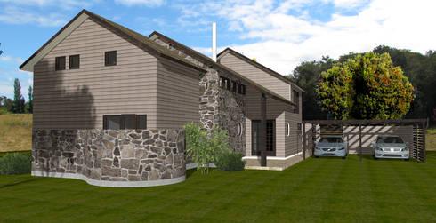 Casas de estilo colonial por ARQvision Sustainable Architecture / FASTSTEEL