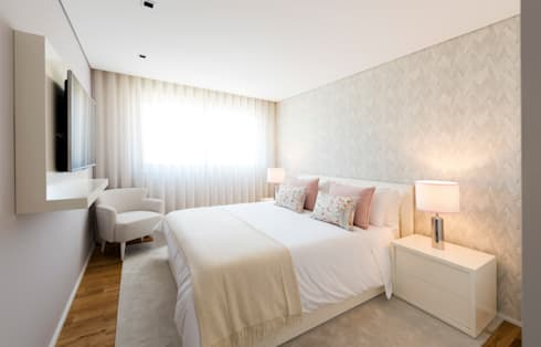 Home with a View: Quartos modernos por Filipa Cunha Interiores