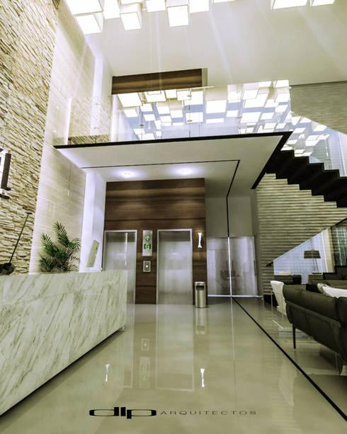 TORRE V1: Estudios y oficinas de estilo moderno por dlp Arquitectos