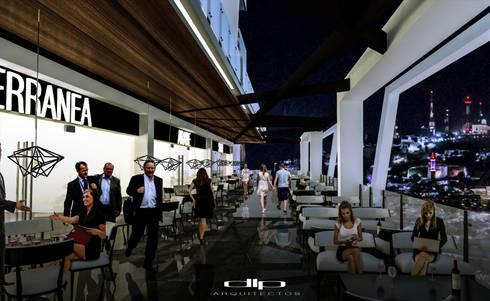 TORRE V1: Terrazas de estilo  por dlp Arquitectos